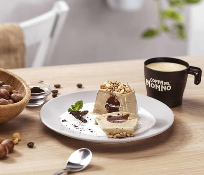 Bomba di gelato al Caffè e Nocciola